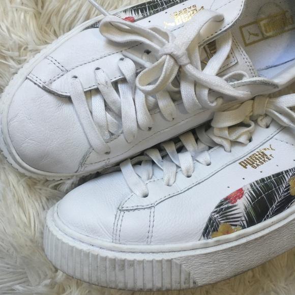 f97d8853e35 Puma Floral White Platform Sneaker. M 5b085dcb72ea88f6779c0749